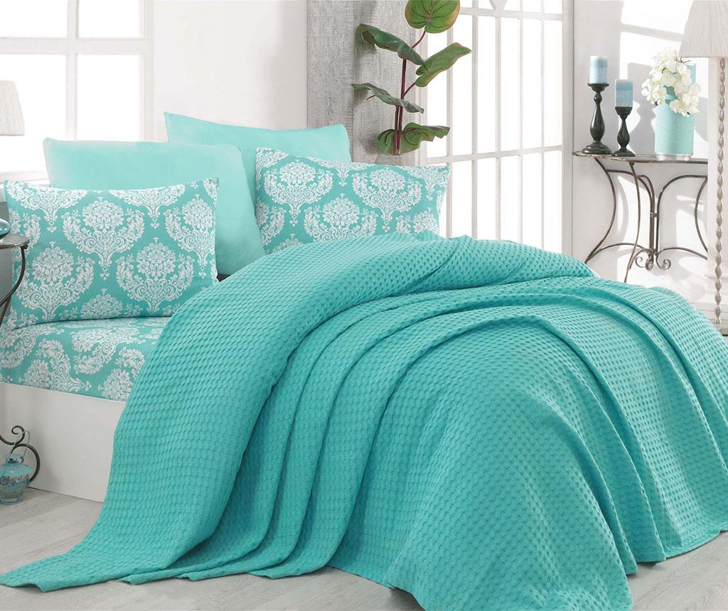 Lenjerie de pat Double Pique Summer Mint - EnLora Home, Verde imagine