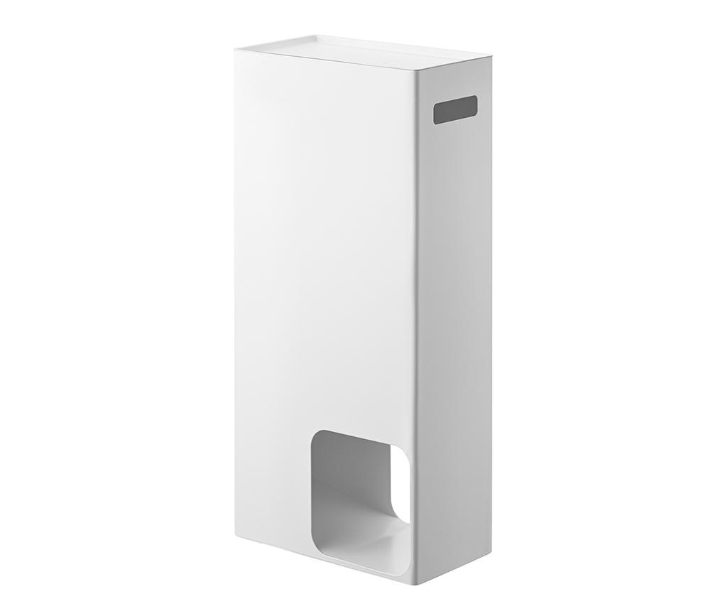 Suport pentru depozitare role de hartie igienica Tower White - Yamazaki, Alb