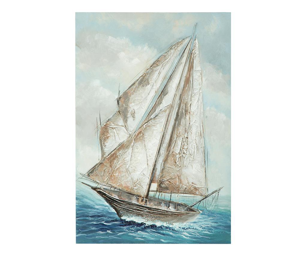 Tablou Gladys Boat 80x120 cm - Mauro Ferretti, Multicolor vivre.ro