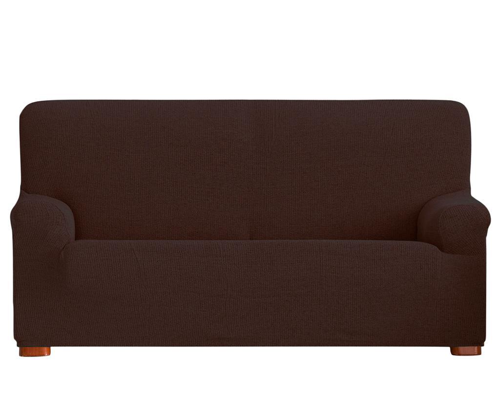 Husa elastica pentru canapea Dorian Brown 210-240 cm