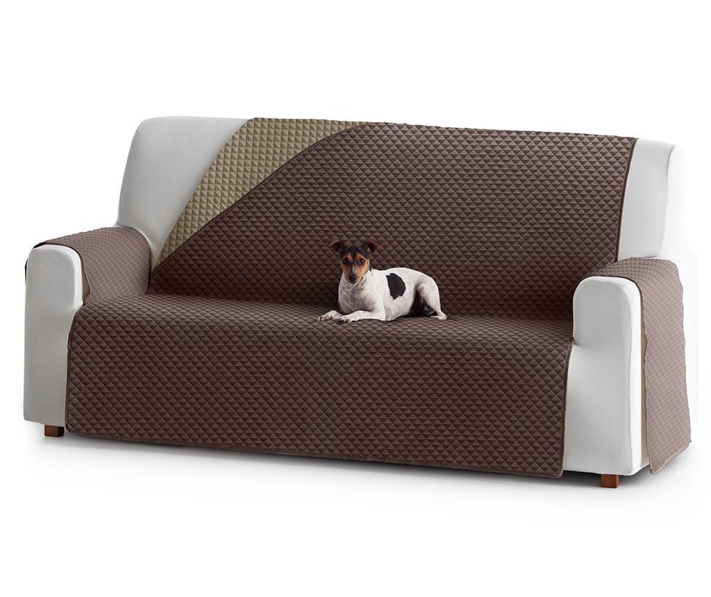 Husa matlasata pentru canapea Oslo Reverse Brown & Tan 190 cm vivre.ro