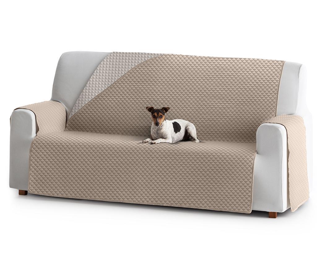 Husa matlasata pentru canapea Oslo Reverse Beige & Ecru 190 cm vivre.ro
