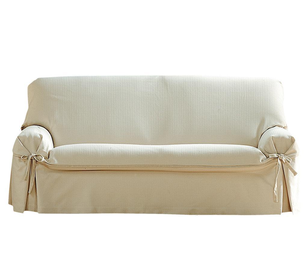 Husa ajustabila pentru canapea Paola Ecru Bows 140-180 cm - Eysa, Crem imagine