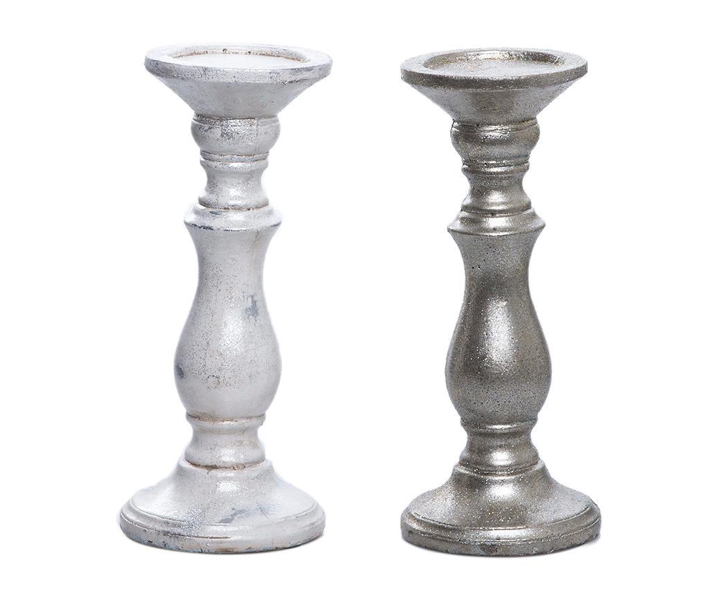 Set 2 suporturi pentru lumanare Antique Cerise - Garpe Interiores, Multicolor