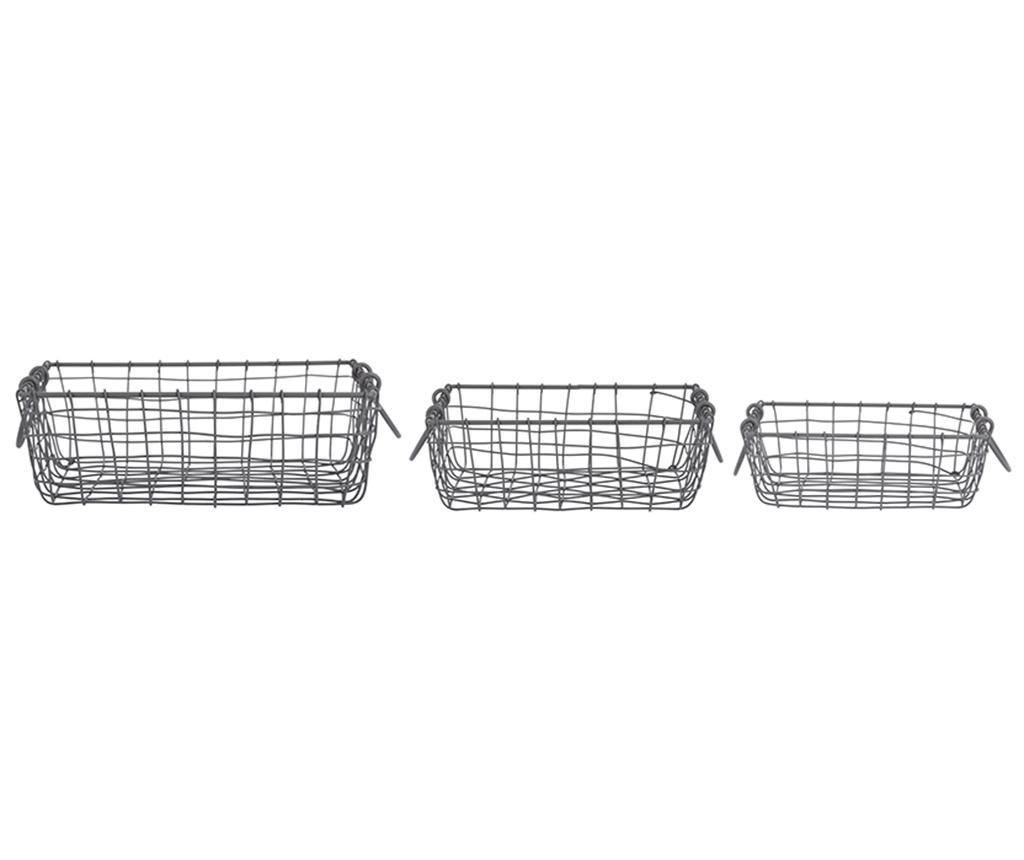 Set 3 cosuri Eric - Esschert Design, Negru imagine