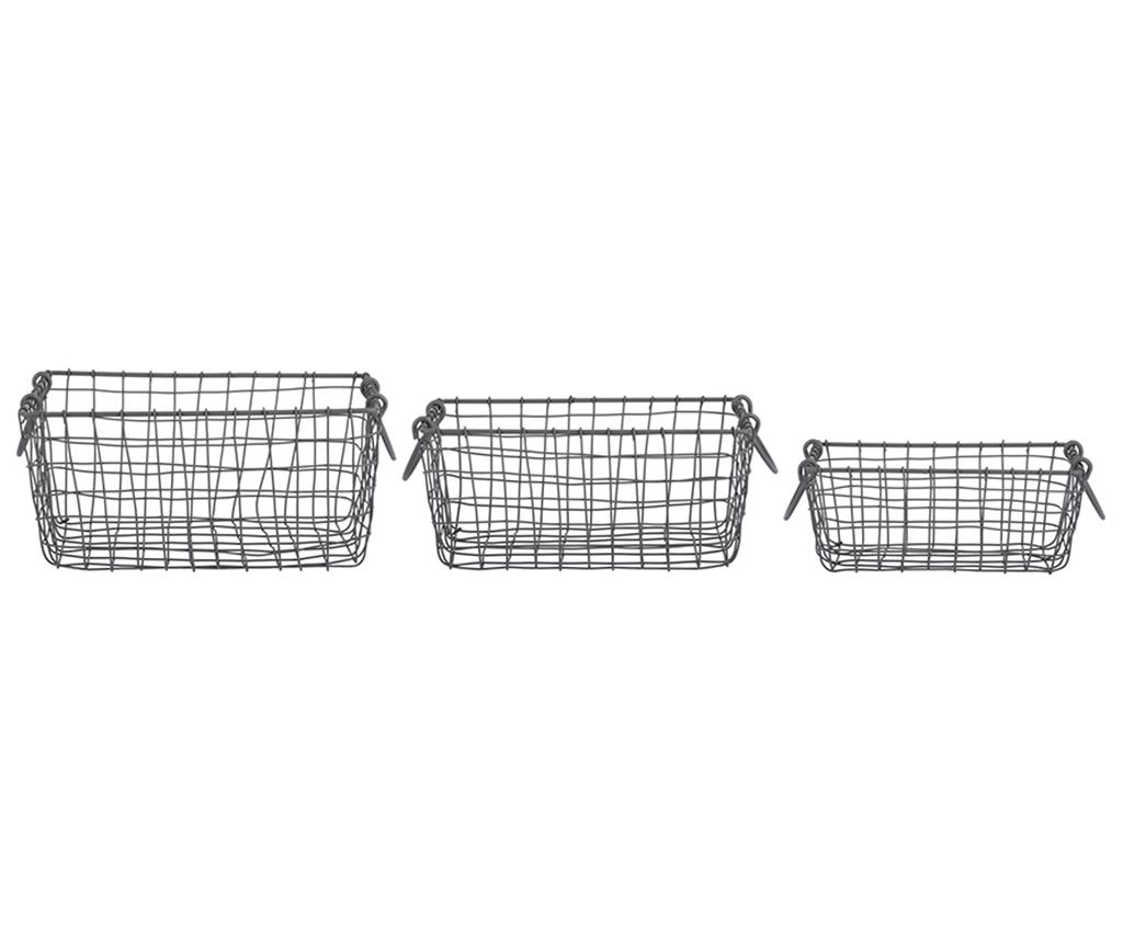 Set 3 cosuri Loma - Esschert Design, Negru