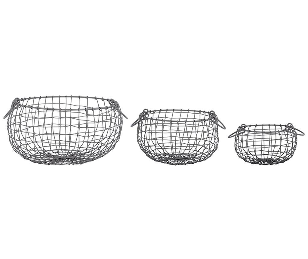 Set 3 cosuri Toplam - Esschert Design, Negru imagine vivre.ro