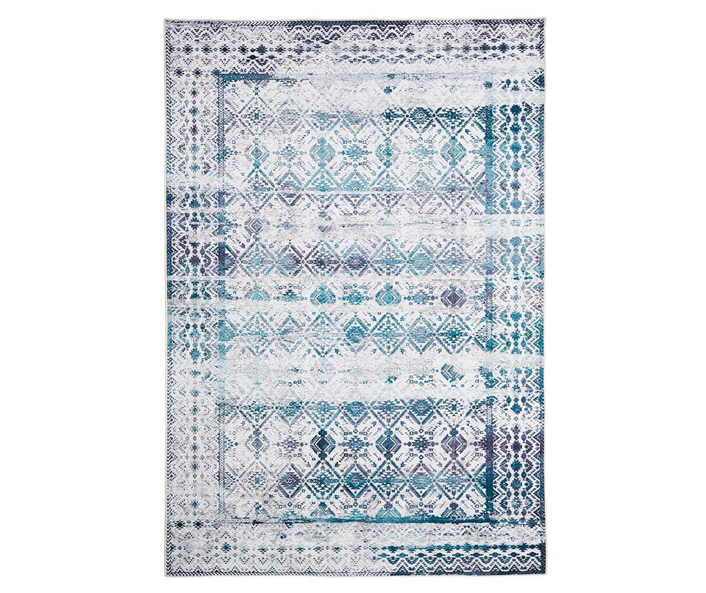Covor Kilim Ivory Aqua 160x230 cm - Floorita, Albastru imagine