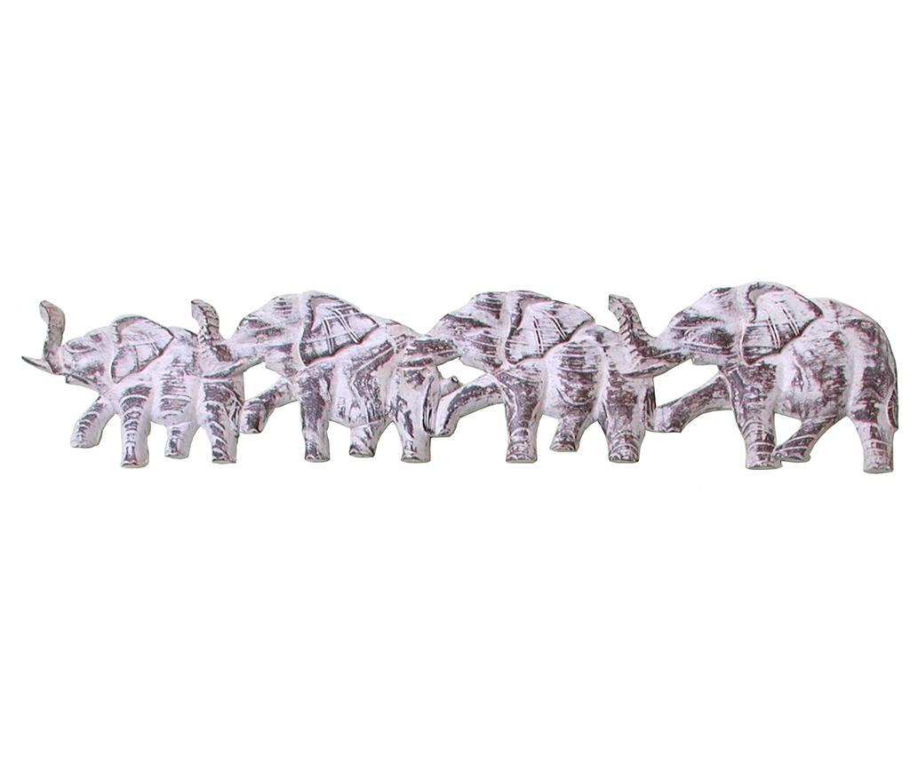 Decoratiune de perete Elefanti Four - Bolzonella, Multicolor