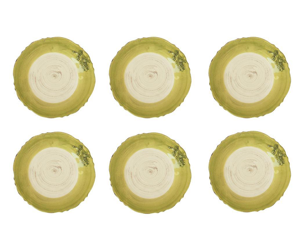 Set 6 farfurii pentru desert Golden Branch
