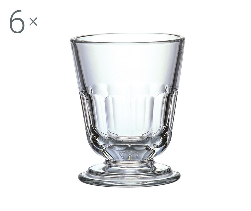 Set 6 pahare cu picior Perigord White 230 ml - LA ROCHERE, Alb imagine vivre.ro