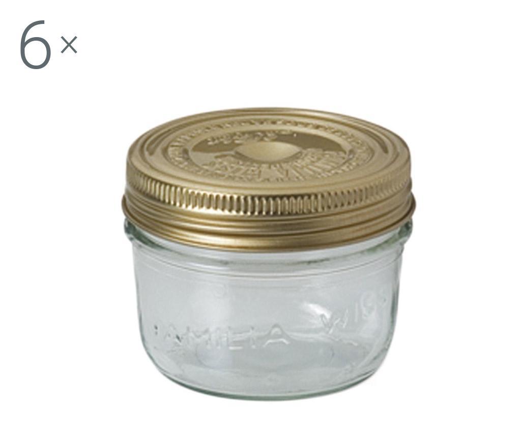 Set 6 borcane cu capac Parfait Golden 200 ml imagine