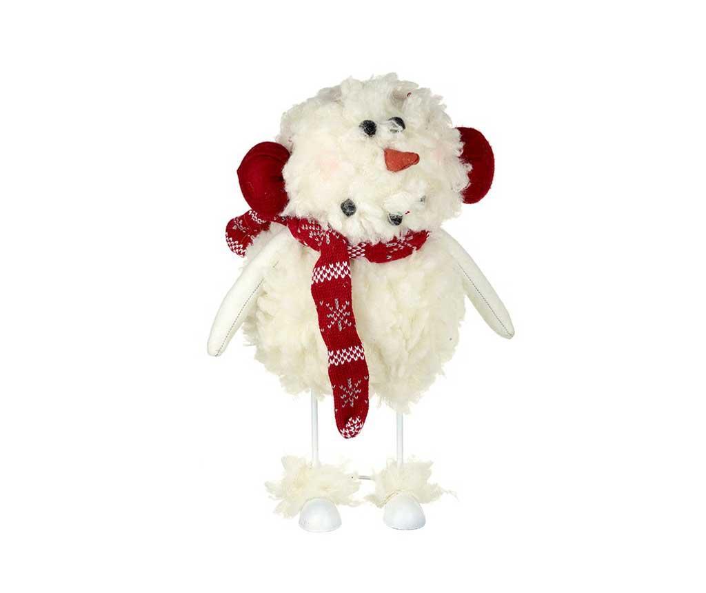 Decoratiune Fluffy Snowman - Heaven Sends, Crem,Rosu de la Heaven Sends