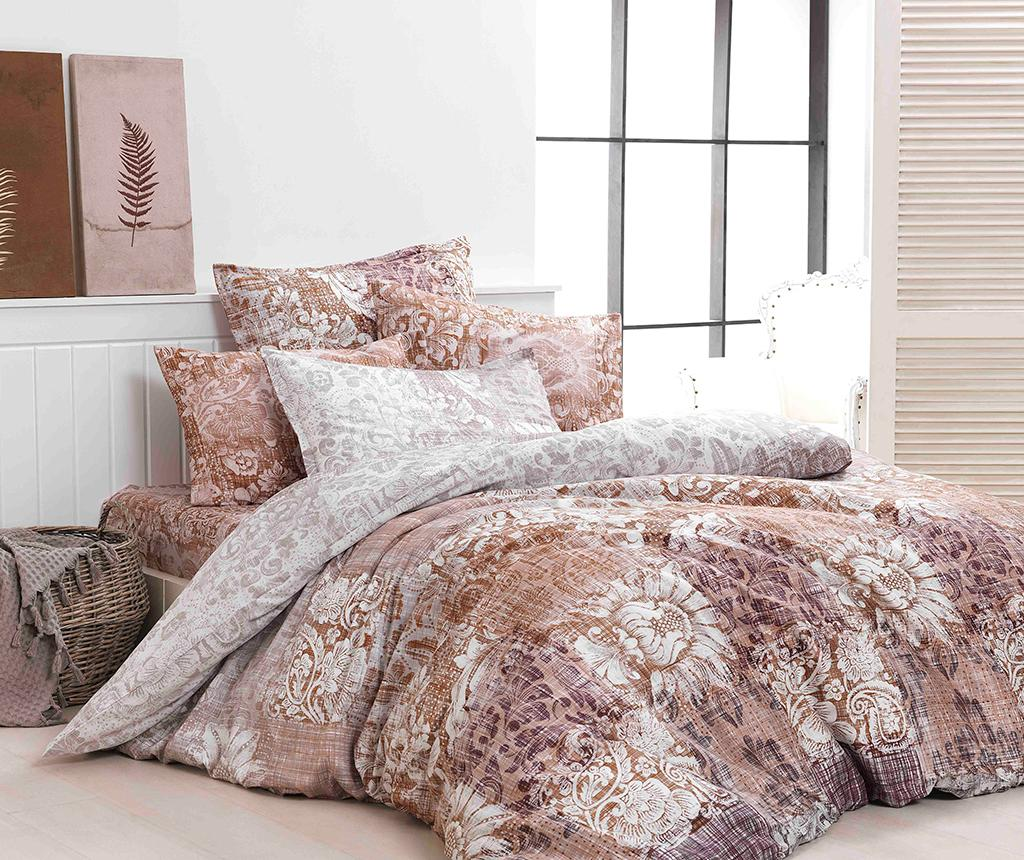 Lenjerie de pat King Satin Supreme Mabel Brown - Majoli Bahar Home Collection, Maro imagine