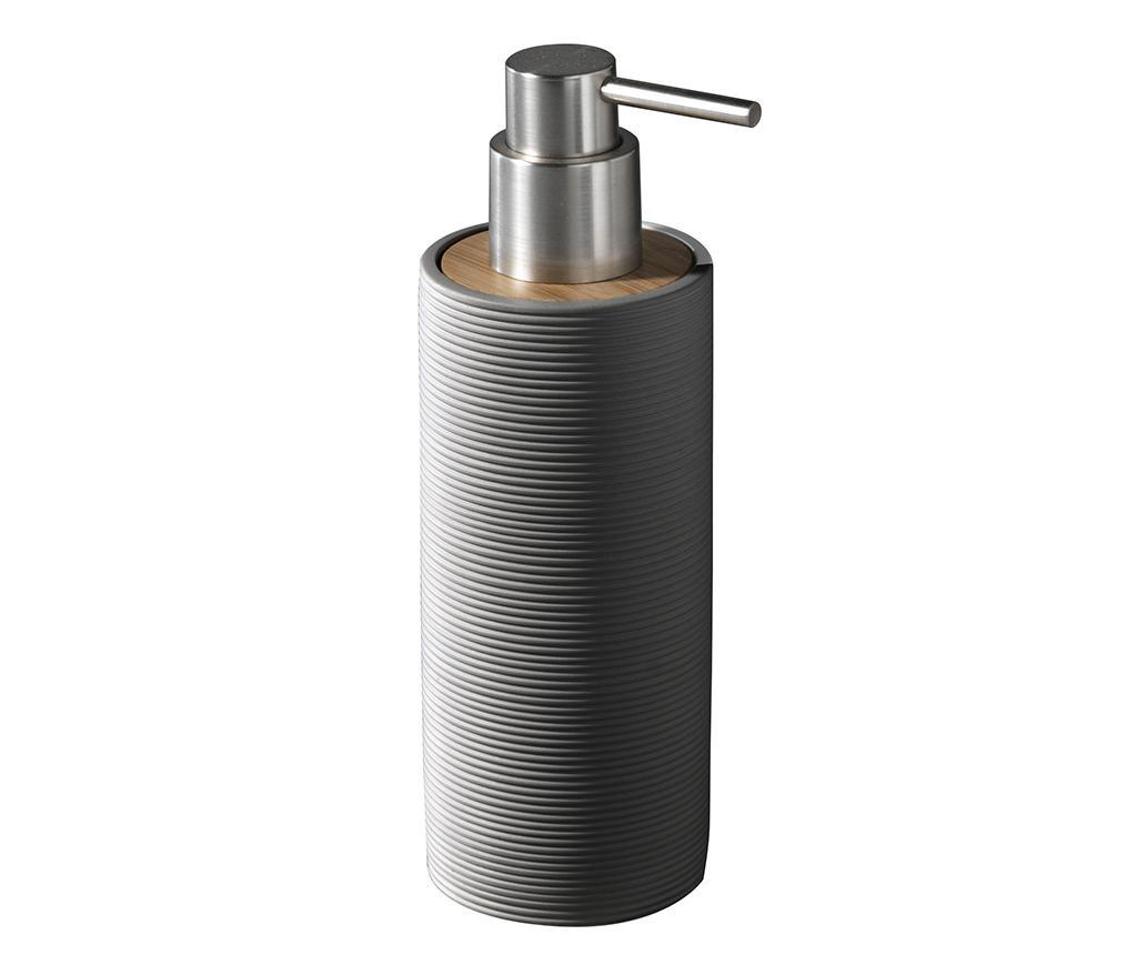 Dispenser sapun lichid Lines Grey 200 ml - TFT Home Furniture, Gri & Argintiu