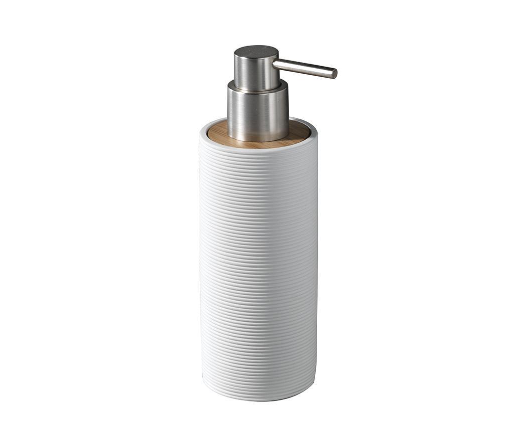 Dispenser sapun lichid Lines White 200 ml imagine