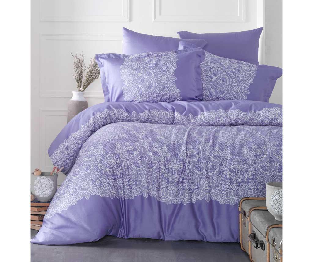 Lenjerie de pat King Satin Supreme Renda Purple