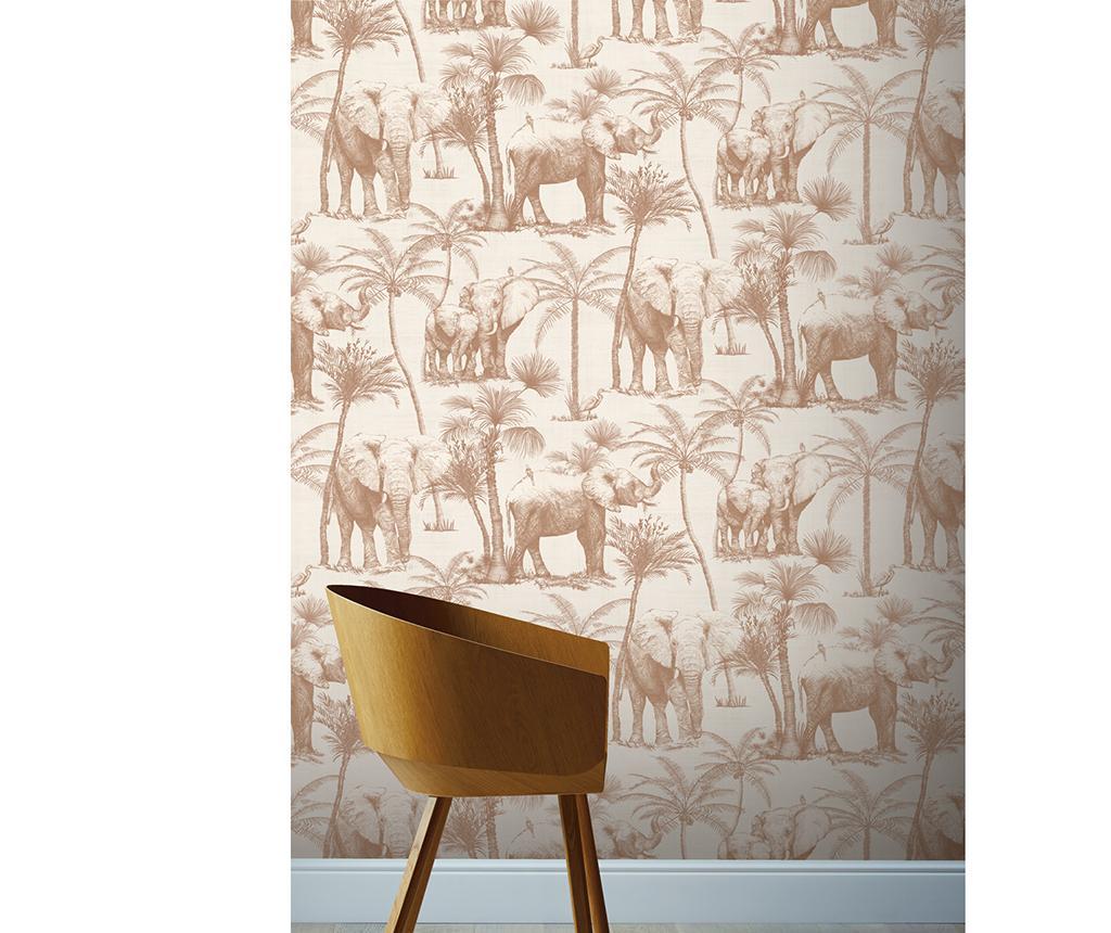 Tapet Elephant Grove Coffee 53x1005 cm - Arthouse imagine