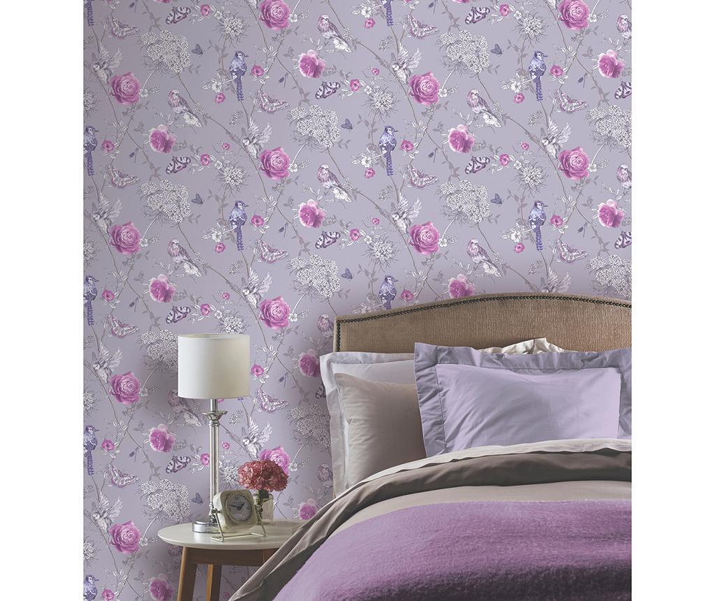 Tapet Paradise Garden Lilac 53x1005 cm - Arthouse imagine