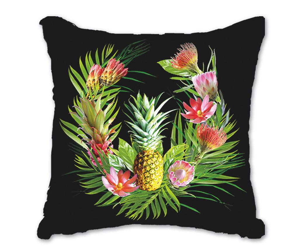 Perna decorativa Amazonia Black Orange 45x45 cm imagine