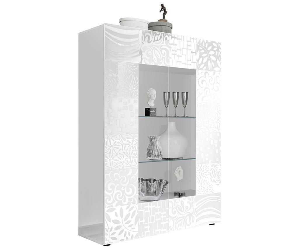 Vitrina Blossom White - TFT Home Furniture, Alb