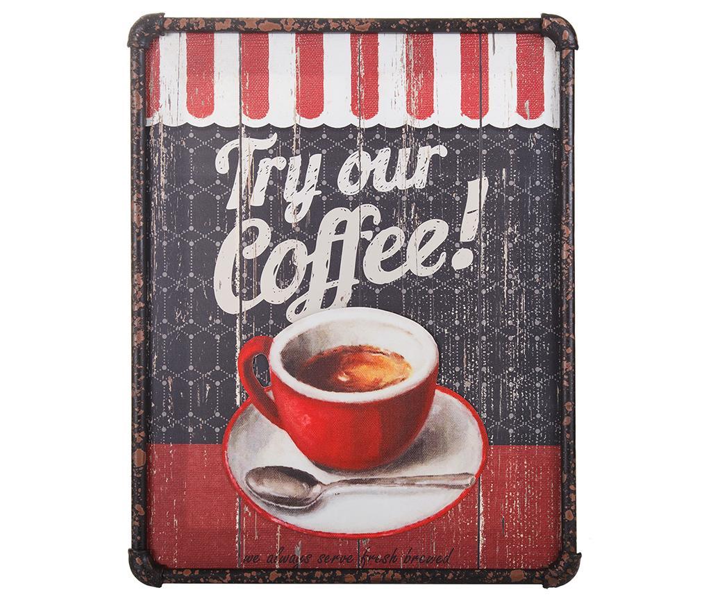 Tablou Try Our Coffee 3D 40x50 cm - Creaciones Meng, Multicolor