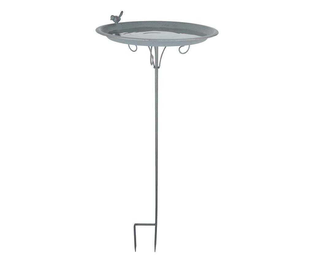 Fantana pentru pasari Malett - Esschert Design, Gri & Argintiu imagine