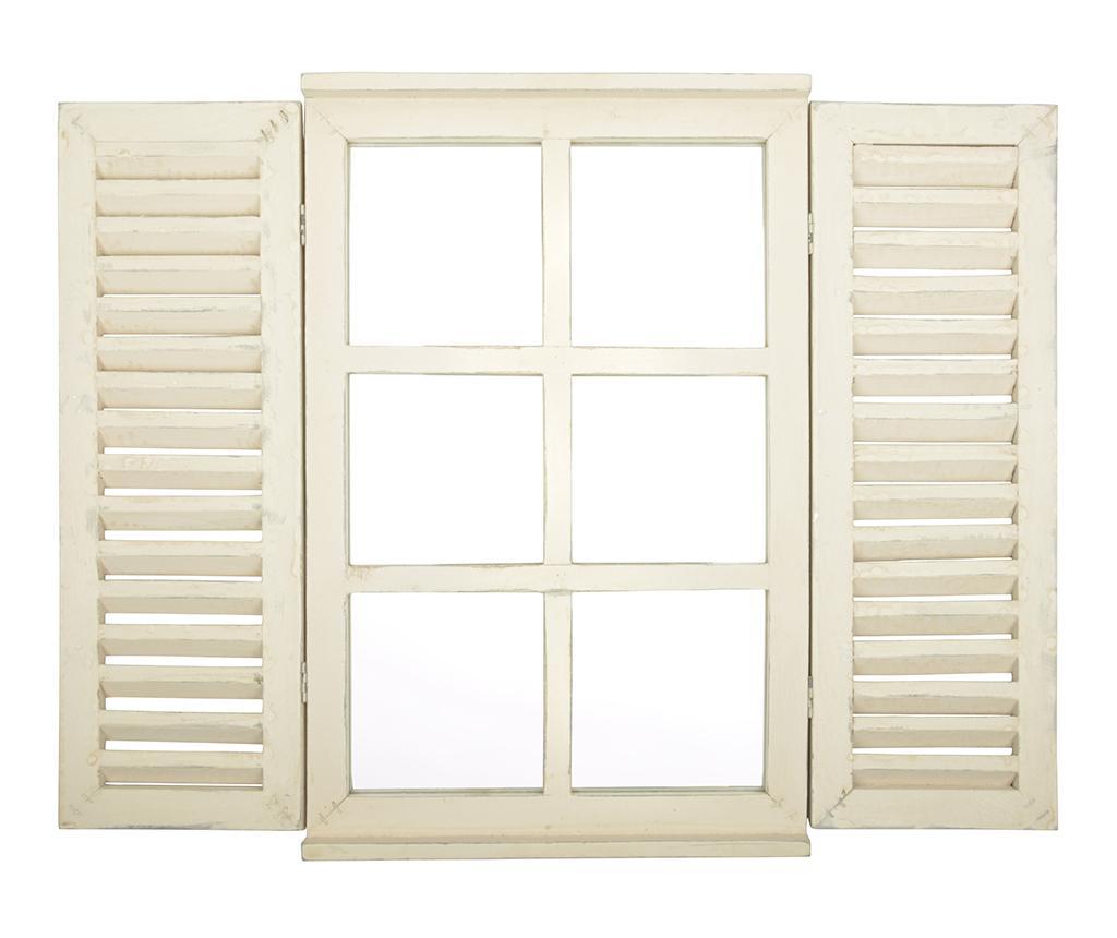 Decoratiune cu oglinda Window Quintin - Esschert Design, Crem
