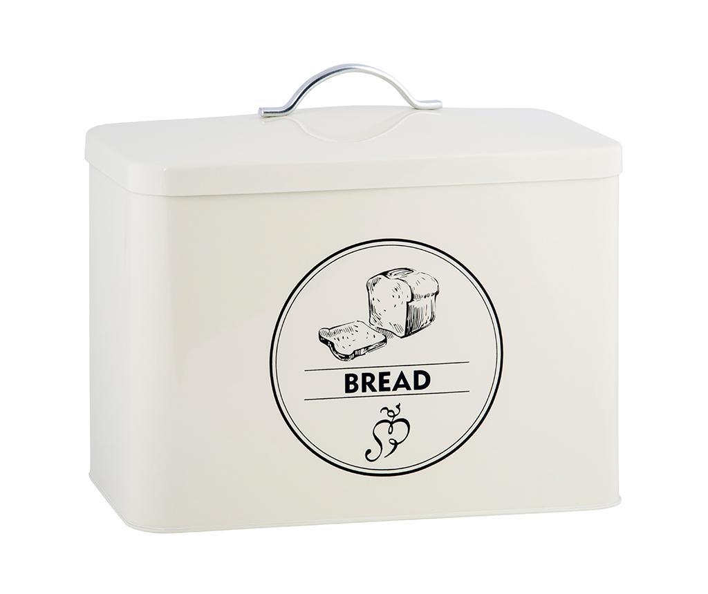 Cutie pentru paine Colin - Esschert Design, Alb imagine