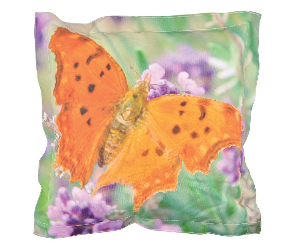 Perna decorativa Butterfly 41.5x41.5 cm - Esschert Design, Multicolor imagine