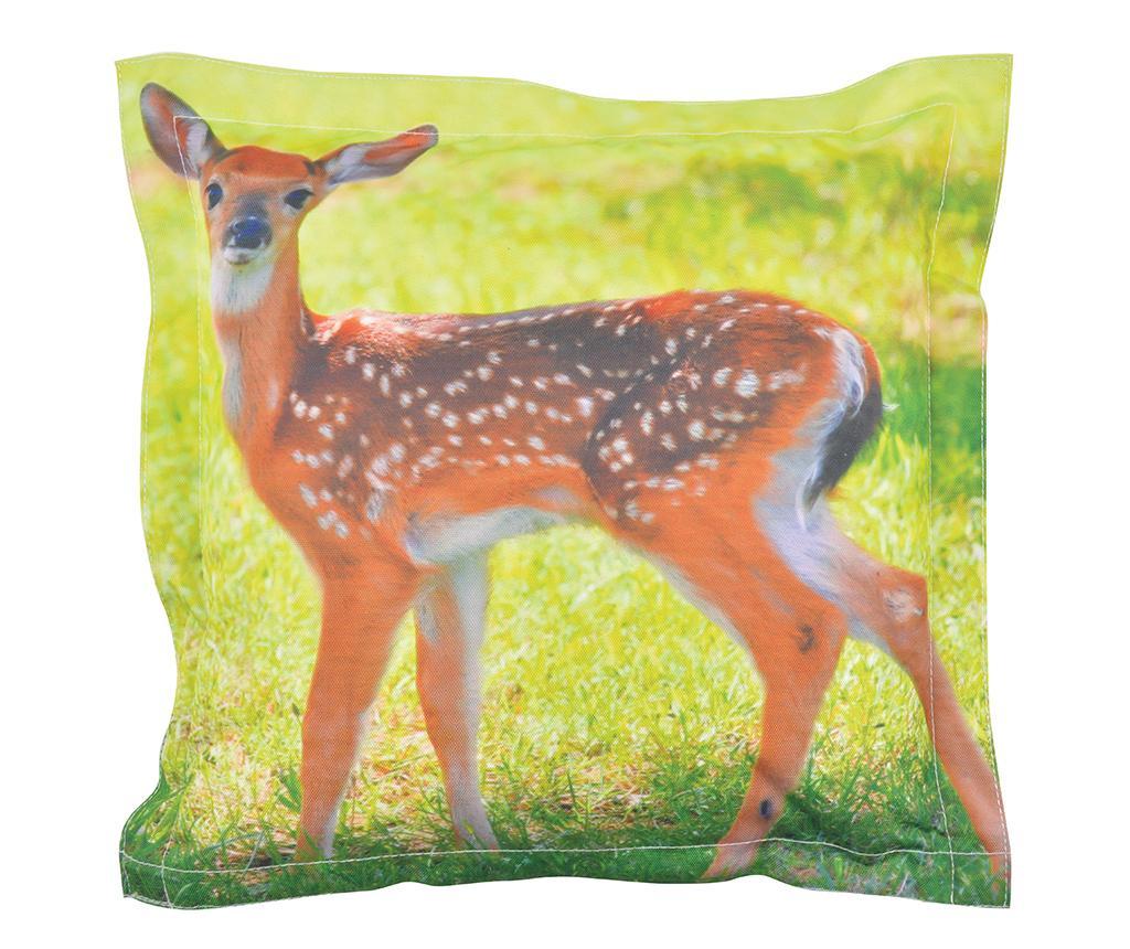 Perna decorativa Deer 41.5x41.5 cm - Esschert Design, Portocaliu,Verde imagine
