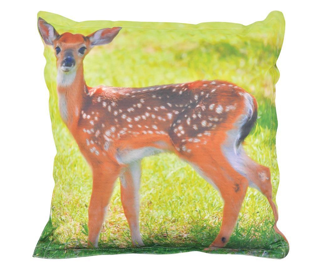 Perna decorativa Deer 59x59 cm - Esschert Design, Portocaliu,Verde imagine