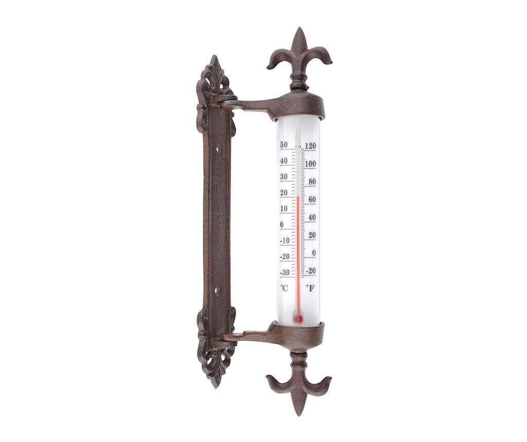 Termometru pentru exterior Gwendolyn - Esschert Design, Maro imagine