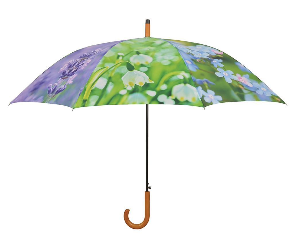 Umbrela Flowers - Esschert Design, Mov,Verde imagine