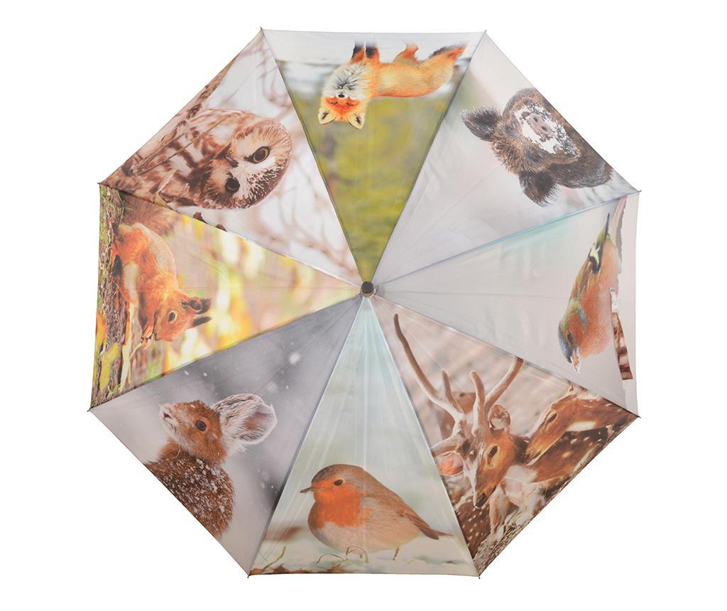 Umbrela Winter - Esschert Design, Multicolor imagine