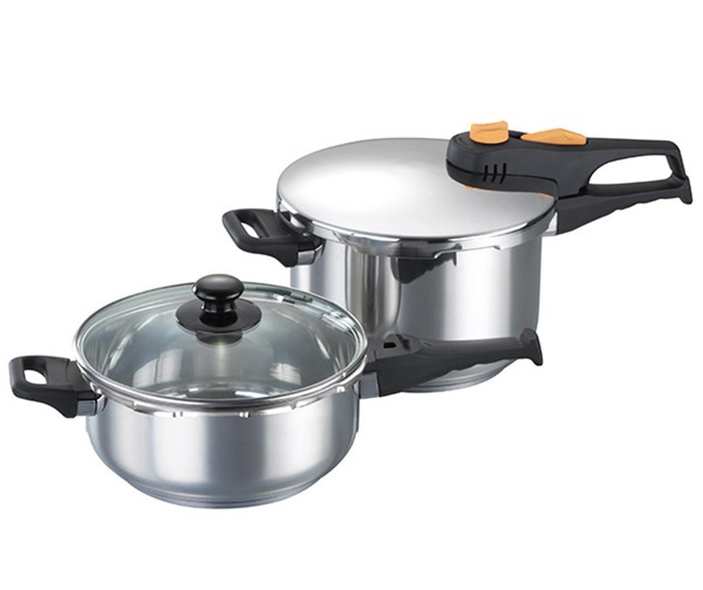 Set oala sub presiune si cratita cu capac Pressure Cookware imagine