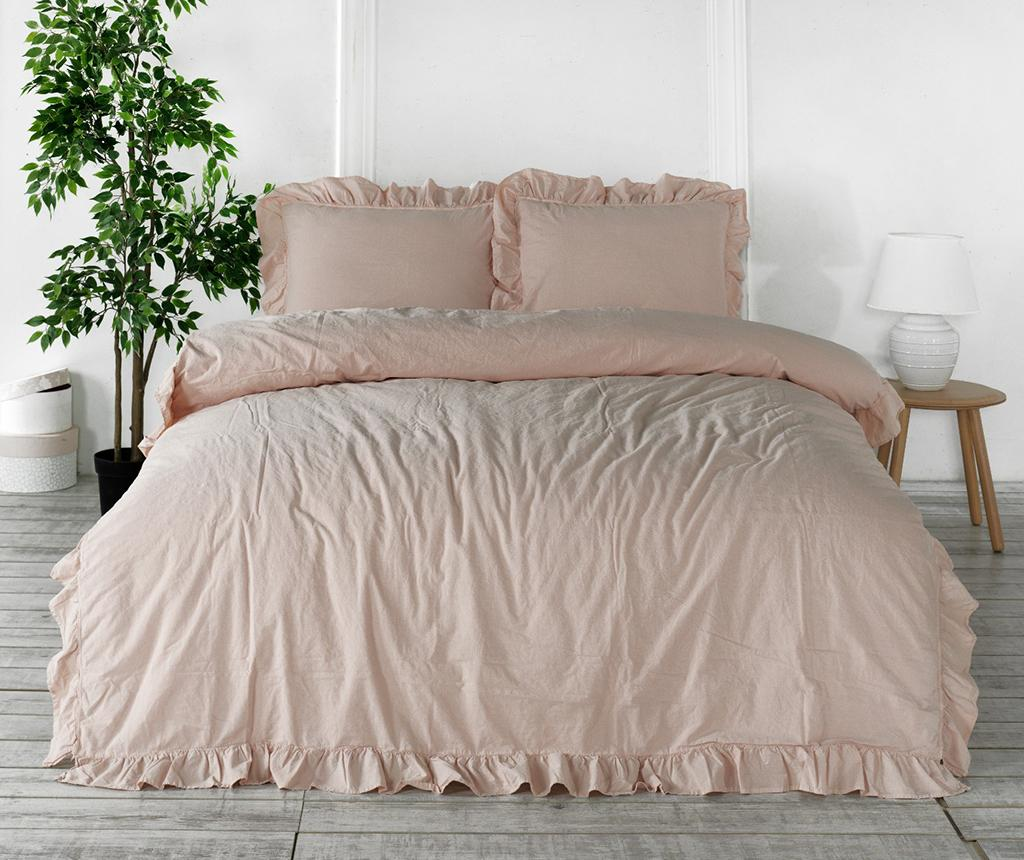 Lenjerie de pat King Exclusive Jayden Powder Pink - LIMASSO, Roz imagine