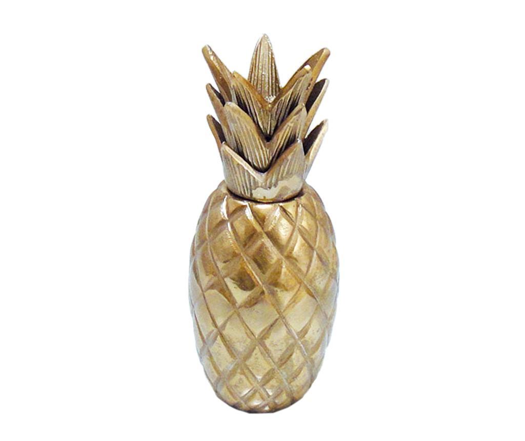Decoratiune Caelan Pineapple Gold - Garpe Interiores, Galben & Auriu