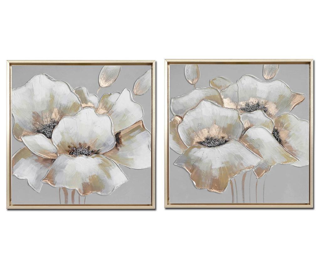 Set 2 tablouri Quinn Flowers 84x85 cm