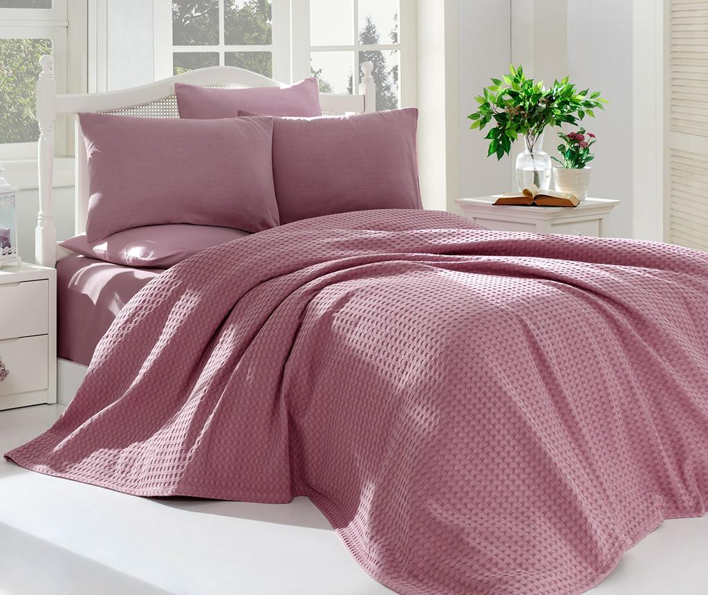 Lenjerie de pat Double Pique Burum Dusty Rose - EnLora Home, Roz imagine