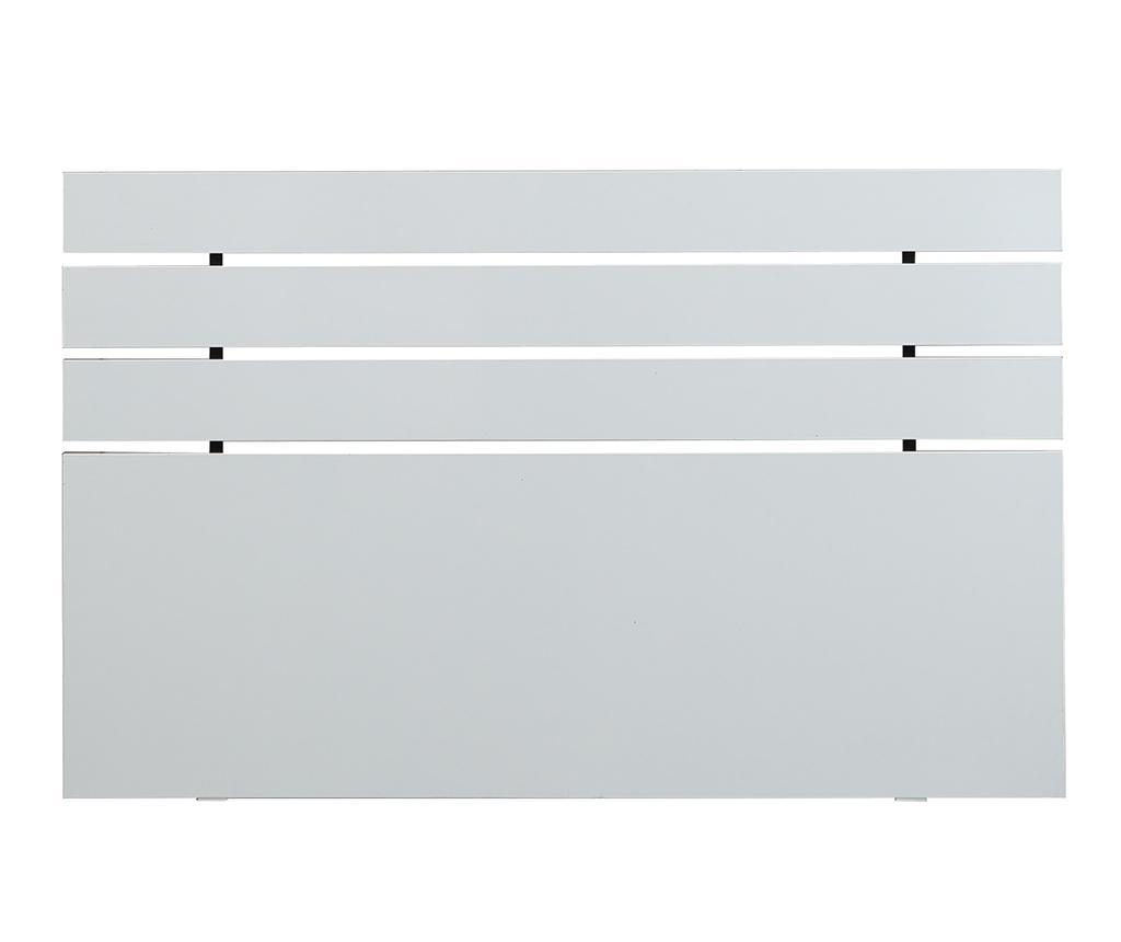 Tablie de pat Fuga Shiny White 100x180 cm - Comforty, Alb imagine