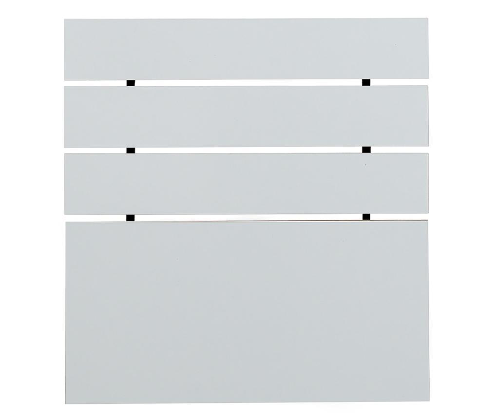 Tablie de pat Fuga Shiny White 100x120 cm - Comforty, Alb