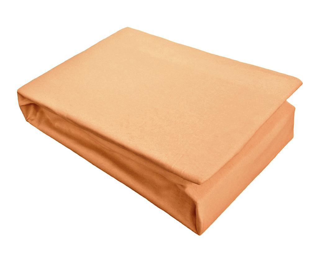 Cearsaf de pat cu elastic Jersey Orange 160x200 cm
