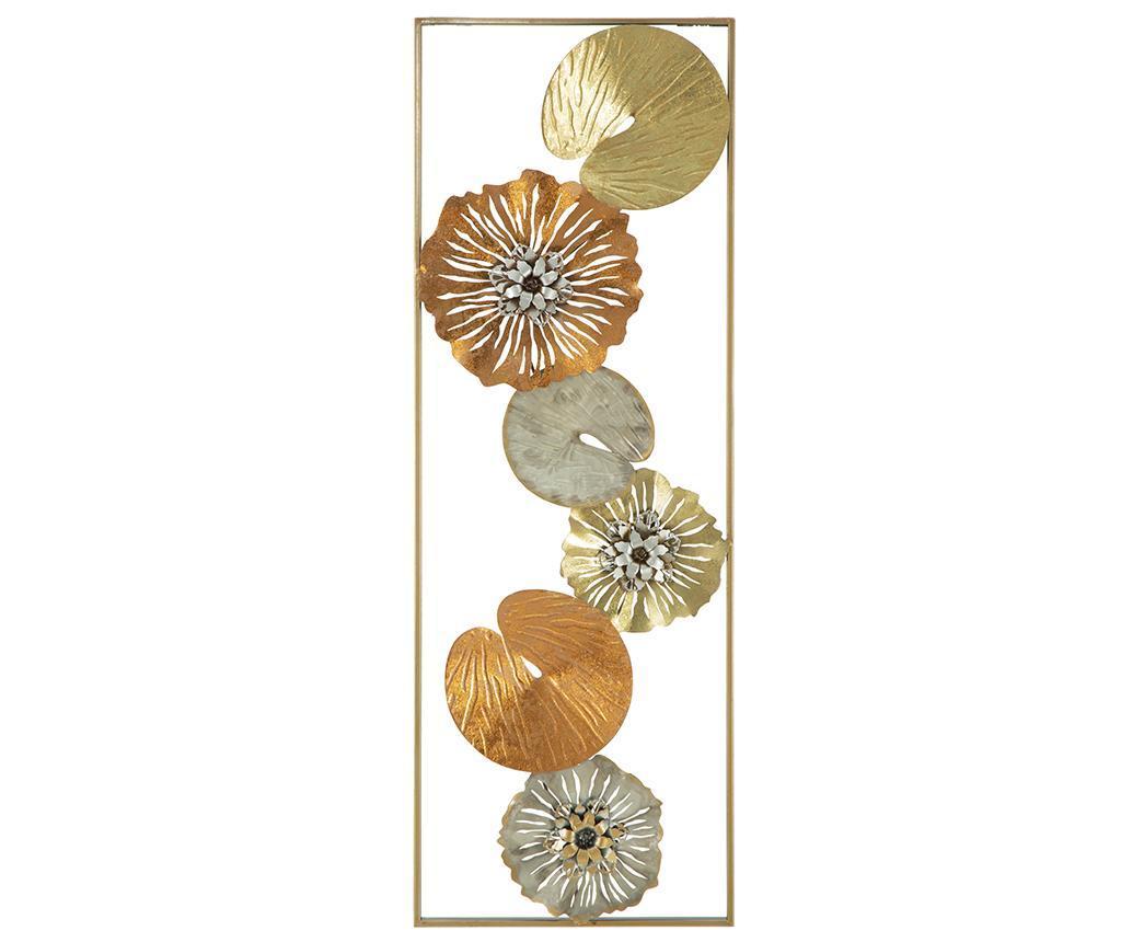 Decoratiune de perete Leaf Summer - Mauro Ferretti, Galben & Auriu poza
