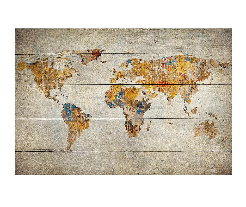 Tablou Worldmap 40x60 cm - Really Nice Things, Maro poza