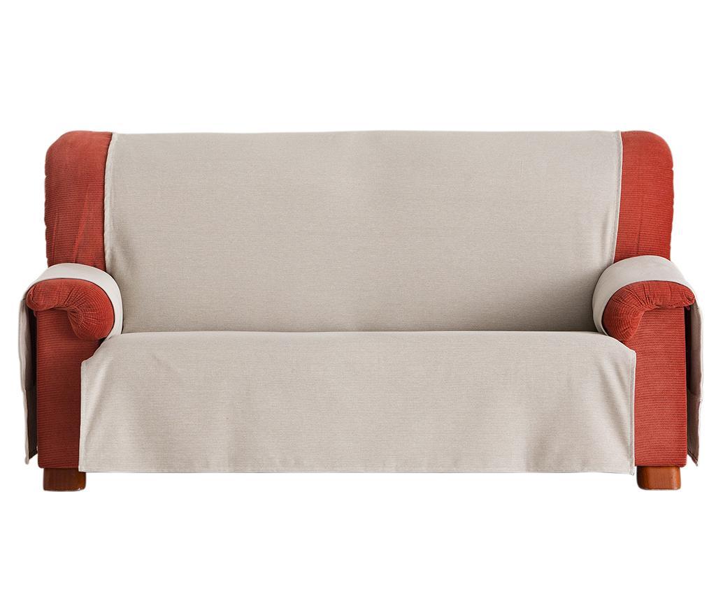 Husa pentru canapea Constanza Linen 190 cm - Eysa, Crem imagine