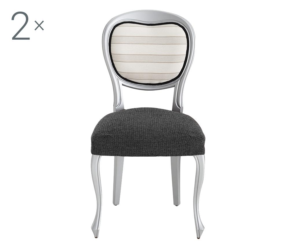 Set 2 huse elastice pentru scaun Dorian Grey