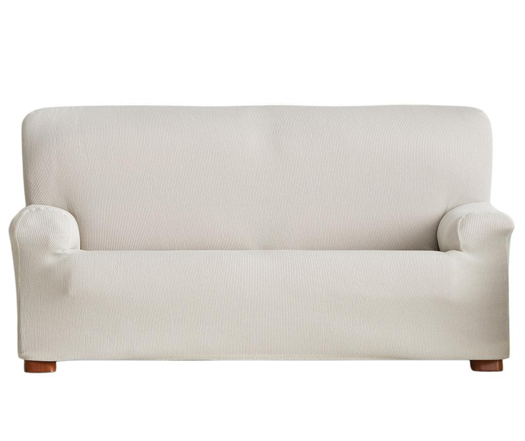 Husa elastica pentru canapea Ulises Ecru 210-240 cm - Eysa, Crem imagine