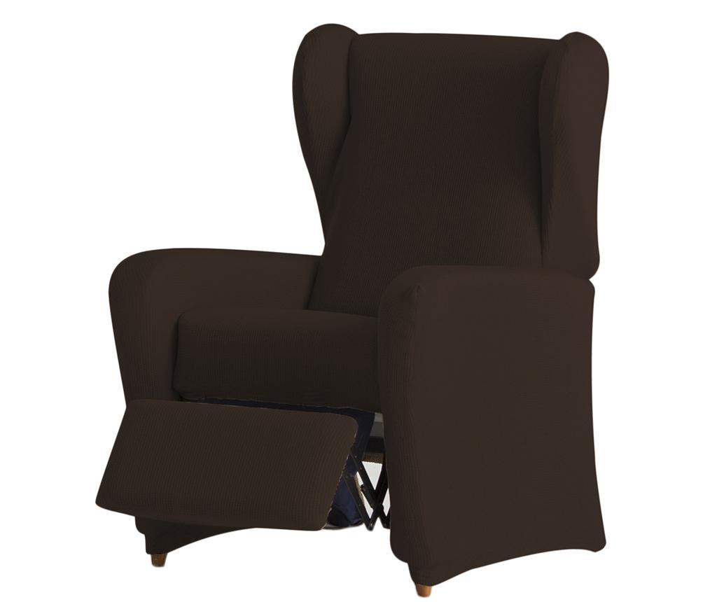 Husa elastica pentru fotoliu cu recliner Ulises Brown