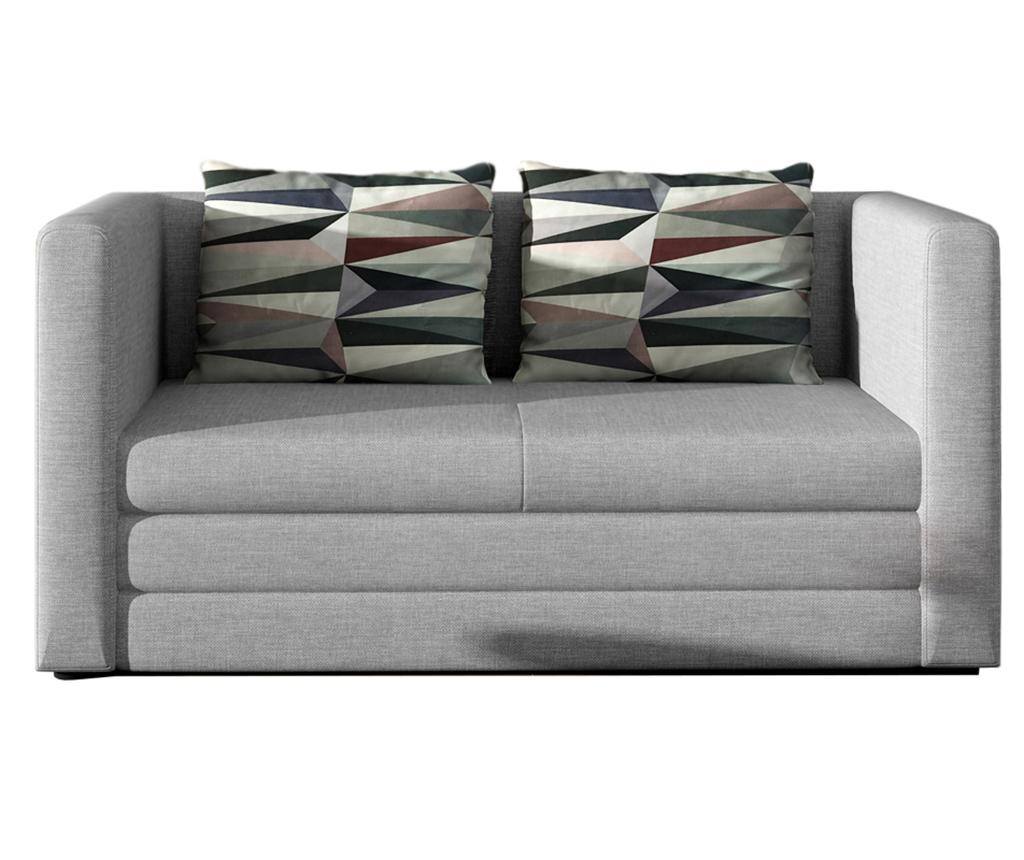 Canapea extensibila 2 locuri Neva Light Grey